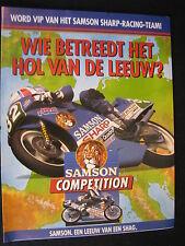 Brochure Samson Sharp Honda Racing Team (Spaan, Zeelenberg) 1990 (TTC)