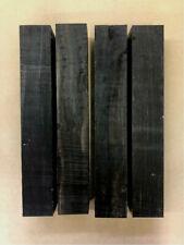 Schwarzes Ebenholz | Ebony | Drechselholz | Tonholz | Tonewood | 310 x 51 x 51mm