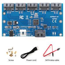 SATA 1 to 5 Port Multi SATAII/SATA2 Multiplier Adapter Riser Card SATA3.0 Card