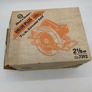 "VTG Black & Decker 7392, 7 1/4"", Circular Saw, 120volts 5500 RPMs NEW Open Box"
