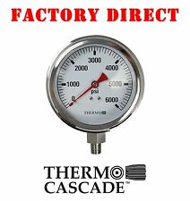 "4"" 6000 PSI Pressure Gauge - Stainless Steel by Thermo Cascade"