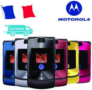 Motorola RAZR V3i  Noir, Bleu, Rouge, violet, Rose, Argenté, Gris  (Désimlocké)
