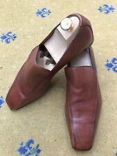 Scarpe da uomo Gucci TAN BROWN IN PELLE MOCASSINI UK 9 US 10 EU 43