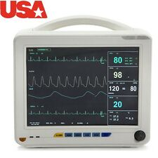"TFT 12.1"" Vital Sign Patient Monitor Machine 6 parameters ECG NIBP TEMP SPO2 PR"