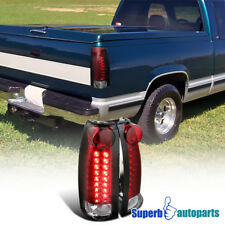 For 1994-1998 Chevy Tahoe C10 Suburban LED Tail Lights Red Replacement