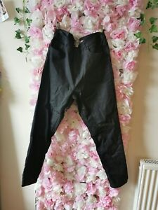 New Look Lift And Shape Leather Look Pants Size 16 🖤
