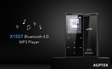 AGPTEK MP3 Player Bluetooth 16GB FM Radio Voice Recorder with Touch Button Black