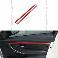 2x Red Interior Door Mouldings Stripe Trim Cover For BMW 3 Series F30 F31 13-17