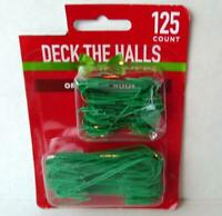Ornament Hooks Tree Hangers Metal Wire Small and Large Size Green 125 ct