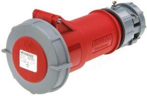 Mennekes 3881 16A IP67 400v 6H 5P Red Industrial Trailing Socket Connector Plug