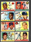 1955+Topps+Baseball+lot+of+24+different+cards+with+stars