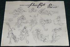 WALT DISNEY MELODY TIME PECOS BILL 1948 WIDOWMAKER HORSE ORIGINAL MODEL SHEET