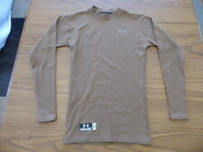 Men's Small Under Armour Tactical Brown Cold Weather Baselayer Shirt Very Good!