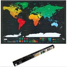Viaje Rasca mapa mundial de edición de lujo personalizado grande nuevo póster de 1 piezas