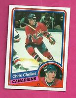 1984-85 OPC # 259 CANADIENS CHRIS CHELIOS  ROOKIE NRMT+ CARD (INV# C8567)