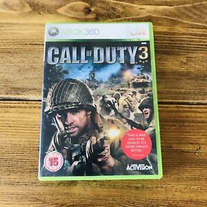 Call of Duty 3 (Xbox 360) PAL War Action Shooter ~ Complete ~ Free Post