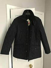 NWT Barbour Bardon Quilt Jacket Navy sz Small from England