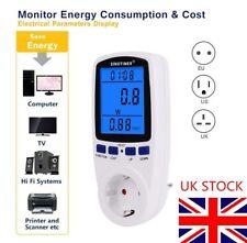 Electricity Power Consumption Meter Energy Monitor Watt Kwh Analyzer 13A 50HZ UK