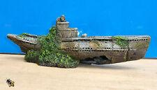 Aquarium Ornament Submarine U Boat War Sub Wreck Fish Tank New
