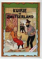 Carte Postale Les Portraits de Tintin n°11. Kuifje in Zwitserland.  2015