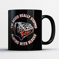 Car Enthusiast Coffee Mug - Playing With Blocks - Funny 11 oz Black Ceramic Tea