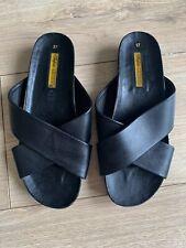 BAFFALO LONDON Black Leather Strap Sandals Size 37 UK 4.5