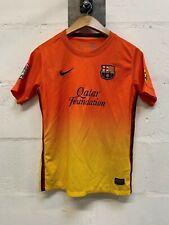 2012-13 FC Barcelona lejos Naranja Camiseta De Fútbol Nike Jóvenes Niños Chicos 12-13 años