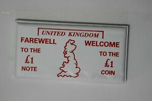 UK GREAT BRITAIN Farewell Pound £ Note Welcome Pound £ Coin (MG42M4)