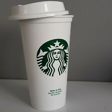 Starbucks Siren White Reusable HOT Travel Coffee Tea Mug Cup Grande 473ml NEW