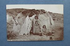 1913 Globe Arizona Postcard ~ APACHE Indian SQUAWS AT HOME