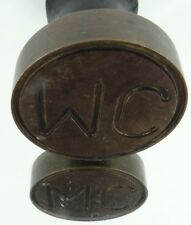 ANCIEN CACHET SCEAU EN POIRIER NOIRCI 19 EME MARQUAGE MC NOTAIRE OU JUGE C908