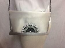 NWT -$320 -Inge Christopher -Stella Foldover Clutch -Silk Handbag -Crossbody Bag