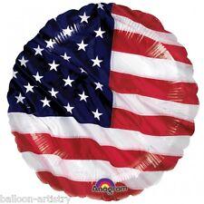 """Sports USA America Stelle Strisce Bandiera Partito 18 """"Foil Elio Balloon American"""