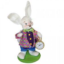 "White Rabbit Alice in Wonderland 6"" Poseable Figures Annalee 2015 Series Easter"
