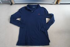 Polo Ralph Lauren Navy Poloshirt sz L (14-16) Long Sleeve