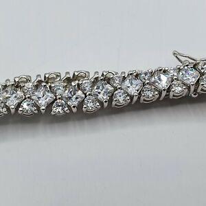 Modernes Tennis - Armband Silber 925 punziert  #sig2