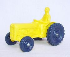 Tomte Laerdal 1:20 Fordson Dextra Farm Ford Tractor Yellow Vinyl Pvc Nm`60 Rare!