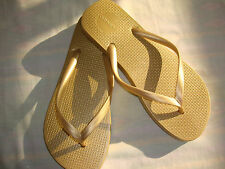 old navy flip flops brazil made metallic gold size 9