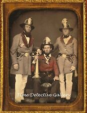 Daguerreotype Image, Firemen, Charleston, S.C. - c1855 -THIS IS A PHOTO REPRINT