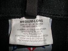 USMC Polartec Fleece Overalls USGI ECWCS size Medium Long- Very Good Condition
