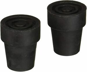 Medline MDS86426W4 Cane Replacement Tips - 1 Pair / Black