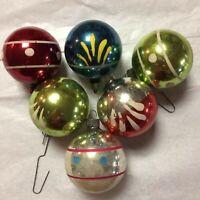 Vintage Lot of Six Christmas Balls