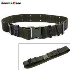 Tactical US Army Heavy Duty Surplus Pistol Web Belt Equipment Gear Olive Drab