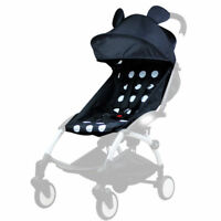For Baby YOYO Stroller Accessories 165°Sunshade Shed Cover Canopy + Seat Pad