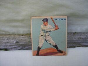 Original 1933 Goudey LOU GEHRIG Baseball Card 92 / Clipped On Bottom