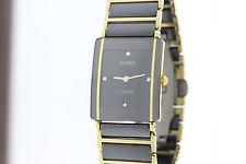 Unisex Rado Integral R20204712 Black & Gold Diamond Marker Quartz Watch
