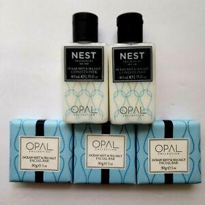 NEST Ocean Mist & Sea Salt Travel Size Lot 5 Pieces: Conditioner (2) & Soap (3)