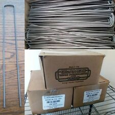 """Lot of 500 U-Shaped Landscape Staples 10""""x1""""x10"""" 83210 Steel Stakes Glamos Wire"""