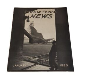 Potomac Edison News January 1930 Rare Company Employee Booklet