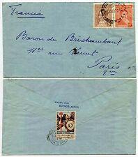 ARGENTINA 1936 COMITE NAZIONALE etichetta CON TIMBRO POSTALE IN FRANCIA 1937